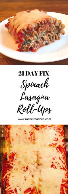 Easy Lasagna Roll-Ups , Easy Lasagna Roll-Ups Is there a better comfort food than lasagna? What a great dish to make as we head further into fall and winter. Lasagne Roll Ups, Lasagna Roll Ups Spinach, 21 Day Meal Plan, Make Ahead Lunches, Supper Recipes, Lunch Snacks, Healthy Recipes, Healthy Meals, Yummy Recipes