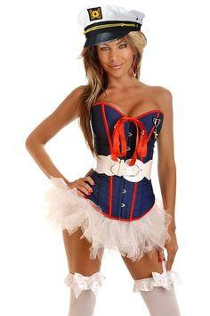 Navy 4 PC Sexy Marine Costume @ Amiclubwear costume Online Store,sexy costume,women's costume,christmas costumes,adult christmas costumes,santa claus costumes,fancy dress costumes,halloween costumes,halloween costume ideas,pirate costume,dance costume,