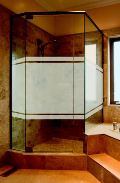 """Etched Glass window film by Artscape (available in 24""""x 36"""", 36""""x 72"""", and 12""""x 83"""" sizes)"""