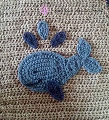 This is one of 12 appliques in the Under The Sea Themed Blanket.