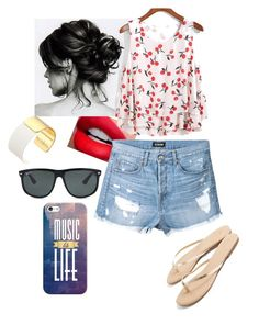 Sem título #809 by rebecadejesusbeca on Polyvore featuring moda, Scoop, Kate Spade, Ray-Ban and Casetify