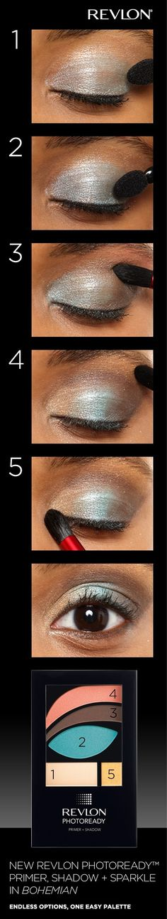 How to apply Revlon PhotoReady™ Primer, Shadow + Sparkle in Bohemian.