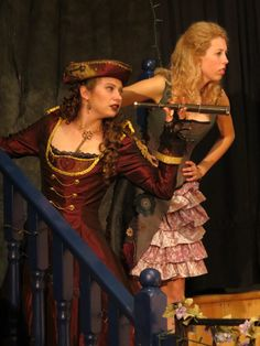 """RMT's 2014 Steampunk production of """"The Importance of Being Earnest"""".  Gwendolyn and Cecily."""