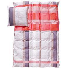 S Colour Block pussilakana ja tyynyliina, punainen