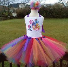 My Little Pony Rainbow Tutu Dress ( Birthday,costume, Princess, Purple, pink) | eBay