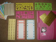 My A5 Pink Finsbury Filofax Home Binder: What's inside my front pockets? by lovingmyfilofax, via Flickr