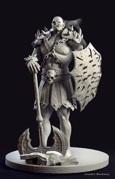 Personagem Modelado em Zbrush e 3Ds Max e renderizado em V-Ray
