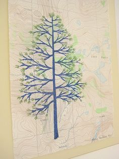 Alpine - hand-stitched print by Dana Robson $30