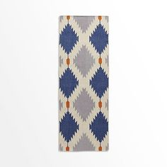 Phoenix Wool Dhurrie Rug - Regal Blue @west elm rug for hallway