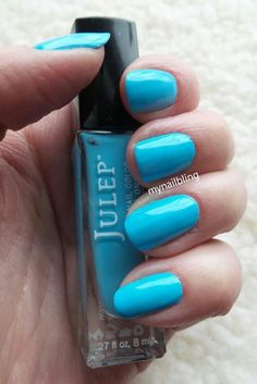"This is ""Something Blue"", a beautiful Tiffany-blue creme from Julep."