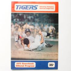 Detroit Tigers 1974 Scorebook Official Program Vintage Baseball Ephemera