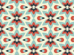 Textile Repeat Patterns 2 (2012) by Mindy Molina, via Behance