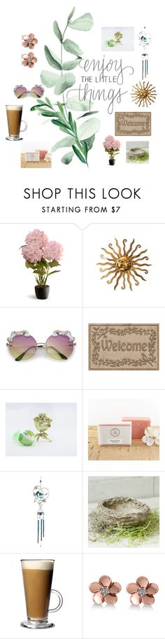 """""""Enjoy the little things!"""" by hummingbirdtak ❤ liked on Polyvore featuring beauty, National Tree Company, WaterGuard, Pier 1 Imports and Allurez"""