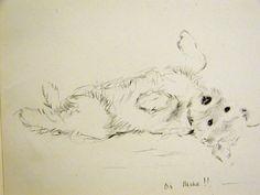 Lucy Dawson Print 1946 Sweet CAIRN TERRIER by AllThingsBrooklyn