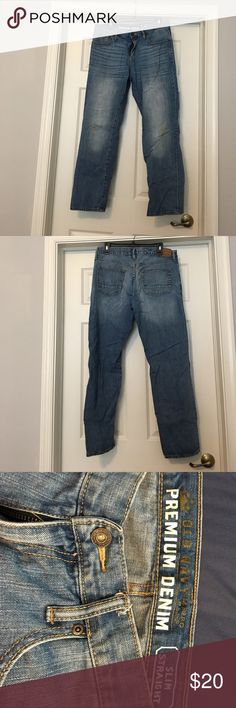 Men's old navy slim straight jean 34x32 Men's old navy slim straight jean 34x32 Old Navy Jeans Slim Straight