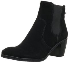 $9, Black Suede Chelsea Boots: AK Anne Klein Bunty Suede Chelsea Boot. Sold by Amazon.com. Click for more info: https://lookastic.com/women/shop_items/33671/redirect