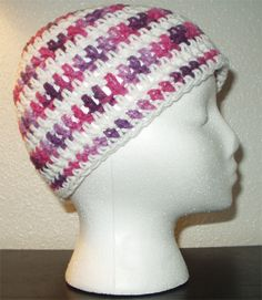 Pinky purple and white - why not add a fun flower on the side? Super cute for young girls. Want one? Only 5 bucks!
