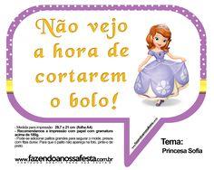 Plaquinhas Divertidas Princesa Sofia 47