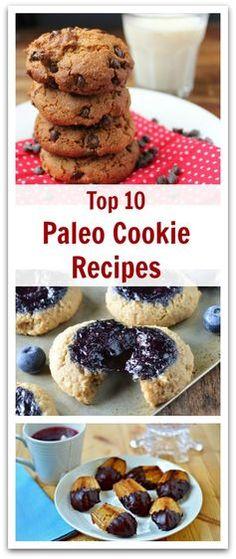 Top 10 Paleo Cookie Recipes - Natural Holistic Life #paleo #cookies #recipes #paleocookierecipes