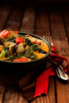 Thai Red Curry with Vegetables and Coconut Milk by Spicie Foodie | #curry #thai…