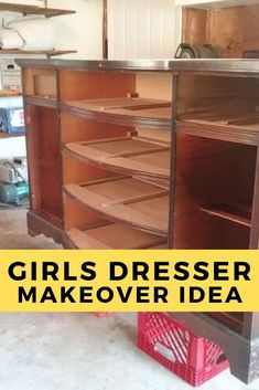 You wont believe the before and after photos of this vintage dresser. you might not think this dresser belongs in kids room but you'll soon change your mind when you see how to paint it. Diy Dresser Makeover, Furniture Makeover, Diy Furniture, Upcycled Furniture, Bedroom Furniture, Dresser Makeovers, Painted Furniture, Vintage Dressers, Old Dressers