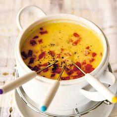 Fondue, Pesto Dip, Hot Pot, Tortilla Chips, Ketchup, Cheeseburger Chowder, Barbecue, Buffet, Good Food