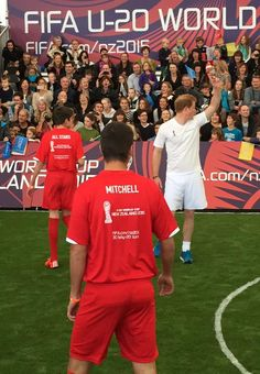#PrinceHarry getting a good workout! A fast-paced game of 5-a-side football #RoyalVisitNZ