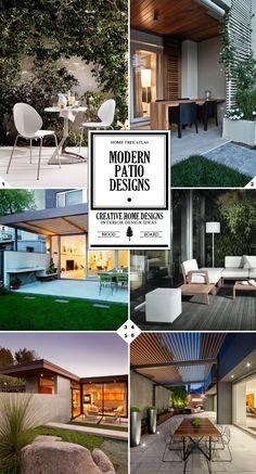 Modern patio decor ideas and furniture design