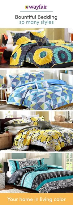 From cool and serene (think crisp white duvet) to plush and cozy (color-pop pillows and velvet galore), get your bedroom to sanctuary-status! With florals and geometrics, thread count and unique styles, we have bedding options for every look and budget. Visit Wayfair to get exclusive deals at up to 70% OFF, and FREE shipping on any order over $49! Sign up and shop now.