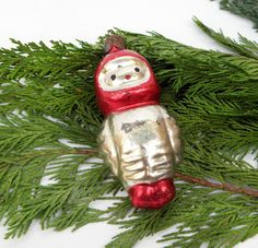 Glass Astronaut figurine Vintage Soviet Christmas Tree Toy