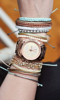 Wrist Fashion - Need these studded bracelets from Pura Vida.