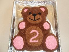 Teddy bear birthday cake teddy bears are a popular cake theme for children's birthday parties. store-bought birthday cakes can be decorated with teddy bear toppers or frosting images, but these might lack a personal touch. Teddy Bear Birthday Cake, 2 Year Old Birthday Cake, Teddy Bear Cupcakes, Teddy Bear Party, Picnic Birthday, Themed Birthday Cakes, First Birthday Cakes, Birthday Cake Girls, Teddy Bears