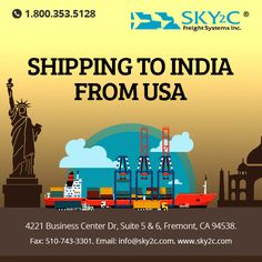 Door to Door #Shipping to #India Service from #USA