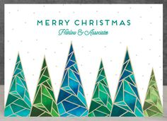 Company Christmas Card. Say it with style with Quartz Business Holiday Card by Kaydi Bishop. Customize with your company logo on Minted.com