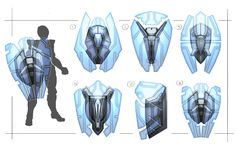 Sci Fi Shields by Terence Tolman on ArtStation. Anime Weapons, Sci Fi Weapons, Armor Concept, Weapon Concept Art, Armes Futures, Armadura Sci Fi, Character Concept, Character Art, Arte Robot