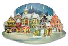 """Adventskalender """"Kleine Stadt im Mondschein"""""""