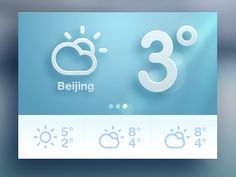 Weather designed by Sanadas young. the global community for designers and creative professionals. Web Design Studio, Web Ui Design, Flat Design, Module Design, Mobile Web Design, Ui Design Inspiration, Ui Web, Apps, User Interface Design