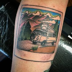 VW Camper Polaroid | Tiffany Lynn | Old Towne Tattoo Parlor