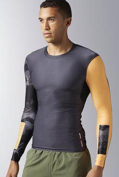 a1140a35d0d3 Reebok CrossFit Long Sleeve Compression Shirt Men s Training Apparel Reebok  Crossfit