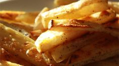 Potato slices are coated in garlic salt and sugar and baked into crispy, golden French fries. add 1/2 tsp paprika