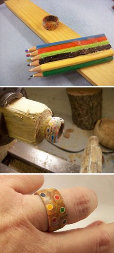 Colored Pencils Ring