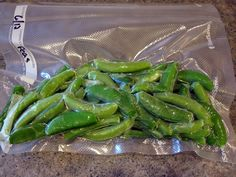 Home freezing garden vegetables: How to freeze green beans, sugar snap peas and broccoli