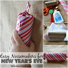 Easy Noisemakers for New Year's Eve