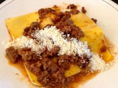Braised short rib bolognese (served over pasta sheets or creamy polenta)
