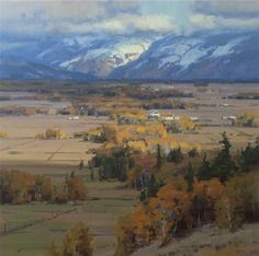 "Scott Christensen Miles Of Teton Valley,  30""x 30"" oil on canvas"
