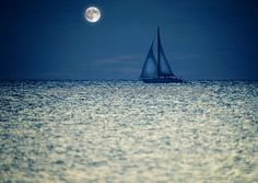 Sailboat on the night time horizon Ocean Drawing, Ocean Quilt, Zen, Heaven And Hell, Sail Away, Photography Website, Sailboat, Night Time, Google Images