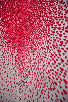 Hundreds of Pink Fingers Explode on Gallery Walls