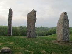 The North Stone, Twenty-Two, and Cave stand in the north - north-east portion of Kinstone Circle.