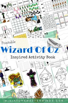 Printable Wizard of Oz Inspired Activity Workbook Looking for a fun pack of activities for your child that will take them to the magical world of Oz? This pack has several different basic concept a…