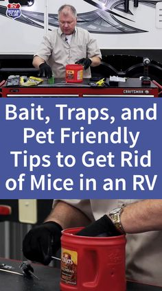 Bait, Traps, and Pet Friendly Tips to Get Rid of Mice in an RV Rv Videos, Getting Rid Of Mice, Rv Interior, Camper Makeover, Rv Tips, Rodents, Rv Camping, Bait, The Unit